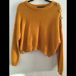 Polly&Esther Gold Sweater with side buttons